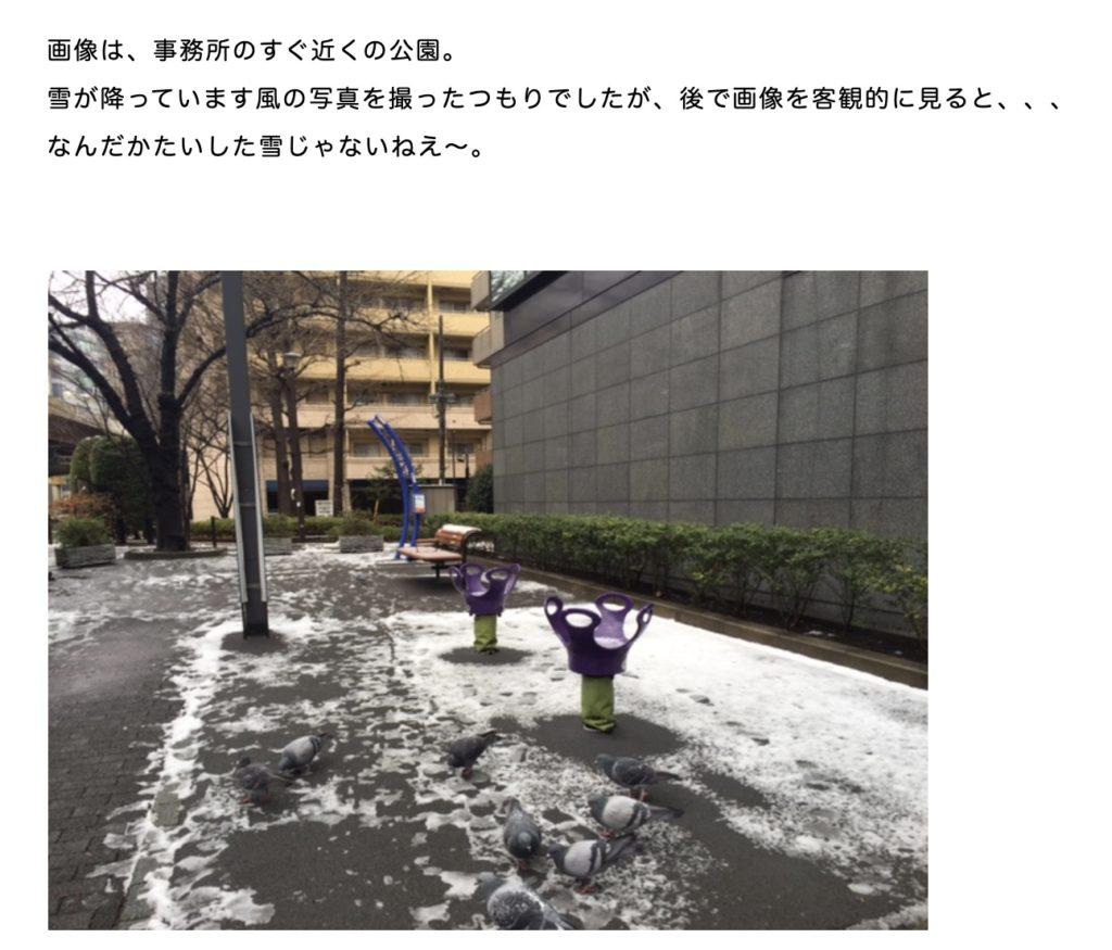 雪が降った日記