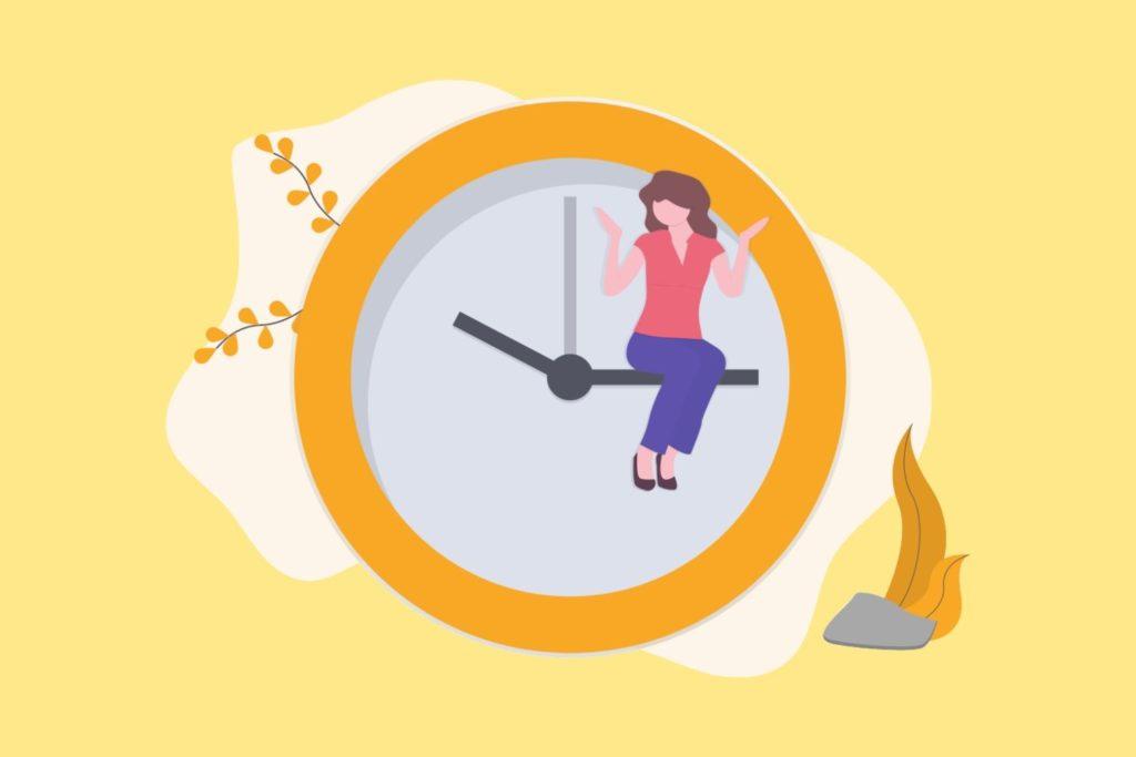 時間管理する女性