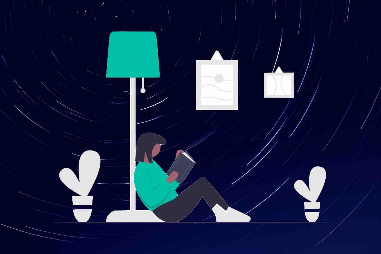 星空の下で読書